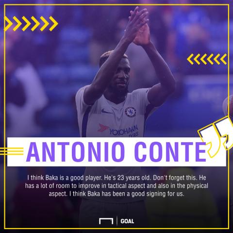 Antonio Conte vows to turn Tiemoue Bakayoko into the complete midfielder