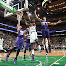 BOSTON, MA - NOVEMBER 17: Jeff Green #8 of the Boston Celtics goes for the lay against the Phoenix Suns during the game on November 17, 2014 at TD Garden in Boston, Massachusetts. (Photo by Brian Babineau/NBAE via Getty Images)