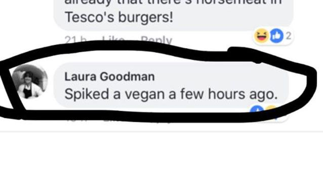 Chef brags on social media about ''spiking'' vegan customers with meat