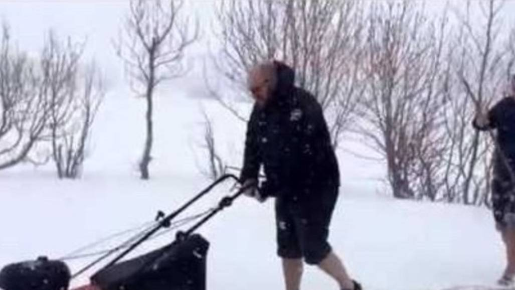 How to Mow the Lawn During Iceland's Snowy Summer