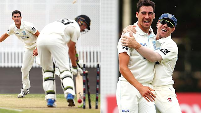Ashes 2017-18: Mitchell Starc takes hat-trick for NSW