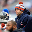 CHICAGO, IL - DECEMBER 21:  Jay Cutler #6 of the Chicago Bears watches from the bench during the third quarter of a game against the Detroit Lions at Soldier Field on December 21, 2014 in Chicago, Illinois.  (Photo by Jamie Squire/Getty Images)