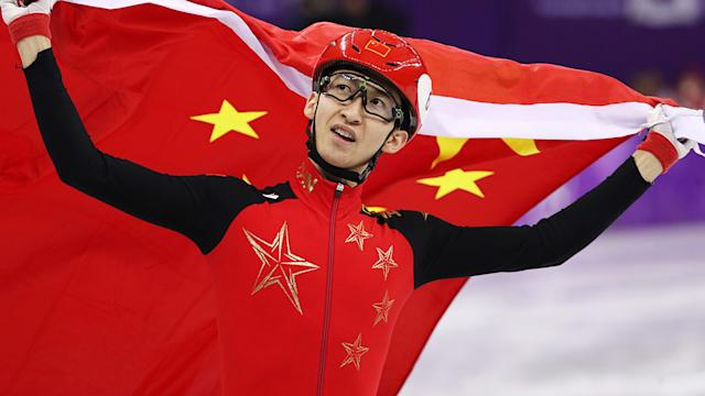 Dajing speeds to men's short track 500m gold