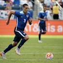 United States forward Clint Dempsey (8) dribbles the ball against Guatemala in the first half of a friendly soccer match Friday, July 3, 2015, in Nashville, Tenn. (AP Photo/Mark Humphrey)