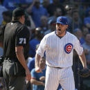 Umpire's missed strike-three call leads to chaos, ejections in Cubs game