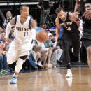 DALLAS, TX - MARCH 24: Monta Ellis #11 of the Dallas Mavericks handles the ball against the San Antonio Spurs on March 24, 2015 at the American Airlines Center in Dallas, Texas. (Photo by Glenn James/NBAE via Getty Images)