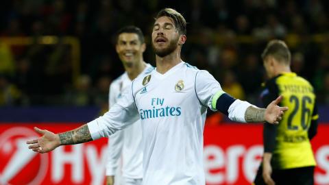 Sergio Ramos Real Madrid Borussia Dortmund