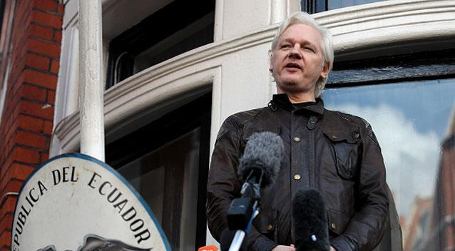 Julian Assange's five year stay in the Ecuadorian embassy in London could be coming to an end. Source Getty