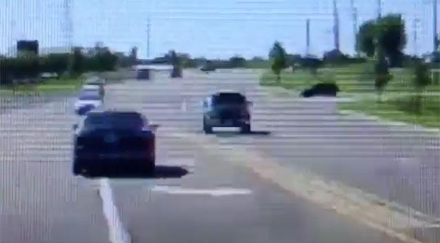 The blue car heads for oncoming traffic after passing through a red light. Source Dixon Police Department