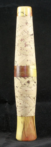 Stabilized Flame Box Elder and Variegated Cork Grip