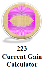 Current Gain Calculator