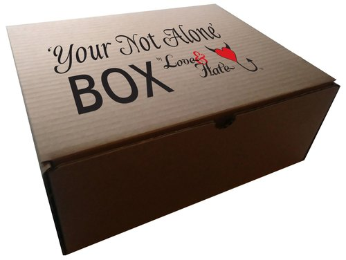 Your Not Alone Box-Youth Small-White,DuoTone Logo
