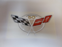 Corvette C5 50th Anniversary Domed Air Bridge Decal