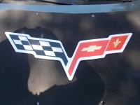 Corvette C6 Domed Hood Liner Logo
