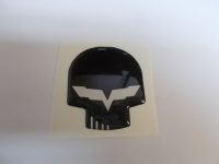 Corvette Jake Skull Domed Emblem 1 inch Assorted Colors
