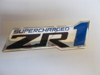 Corvette Supercharged ZR1 Domed Emblem,6 inch, 2009-2013