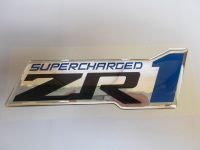 Corvette Supercharged ZR1 Domed Emblem, 3 inch , 2009-2013