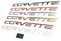 Corvette C6 Domed Rear Bumper Letters