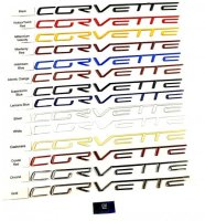 Corvette C6 Domed Letters same size as passenger dash letters