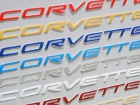 Corvette C5 Letters Domed same size as dash letters