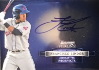 2012 Bowman Sterling Francisco Lindor Autographed Card