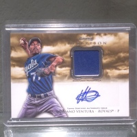 2013 Bowman Inception Yordano Ventura Autographed Relic Card