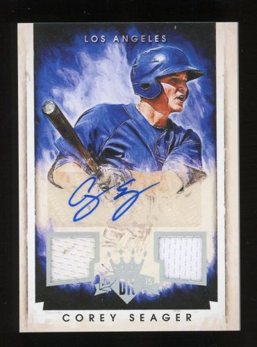 2015 Diamond Kings Corey Seager Los Angeles Dodgers Autographed Card