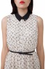 Cross print dress with u opening in the back-Small