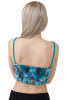 Lightly padded underwire bustier with elastic removable straps-Blue-X-Small