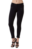 Black skinny pants with zipper details