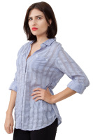 Long sleeve with button up sleeve detail blouse