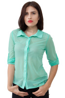 Chiffon top with v back