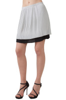 Pleated fully lined skirt