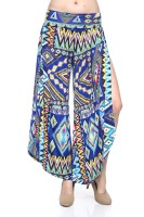 Bohemian loose high waist with full side slit palazzo trousers.