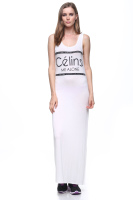 Maxi sleeveless u back casual dress or cover up.