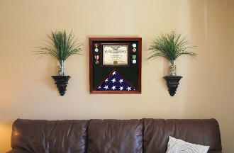 Flag Document Display Case - Real Wood, Hand Made By Veterans