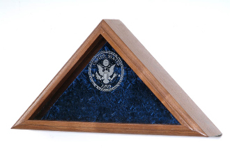 Personalized Flag Case With Laser Engraved Glass For Large Flag