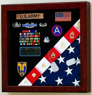 Flag Medals Display Case American Made