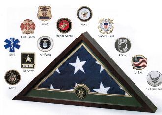Medallion Flag Display Case Memorial Flag Display Case