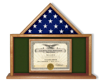 Army Flag And Certificate Display Case