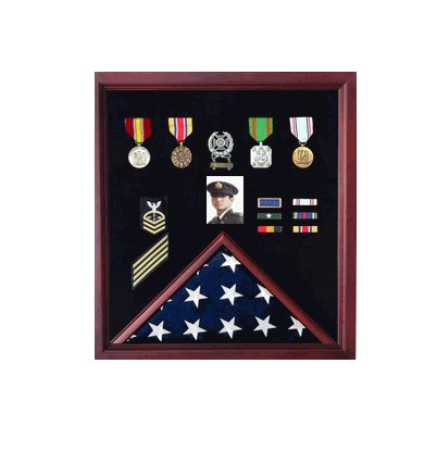 Flag Display Case Combination For Medals And Photos Top Quality