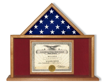 Flag And Certificate Case - Veterans