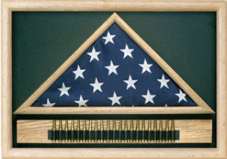Memorial Flag Case With Cartridge Belt