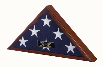 Officers Flag Display Case Burial Flag Coffin Flag Case