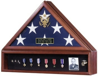 Presidential Flag Case And Medal Display Case