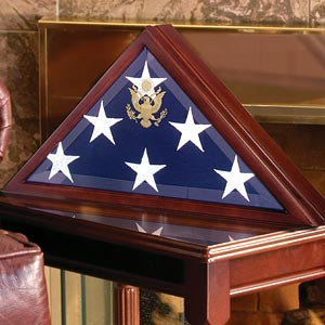 Flag Shadow Box Large Coffin Flag Display Case