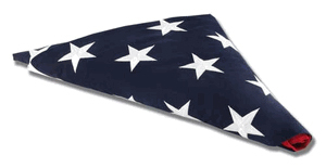 American Flag For Flag Display Case 3ft X5 Ft Cotton