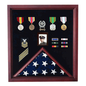 Flag And Photo Display Case Photo And Medal Display Case