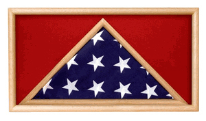 Medal And Flag Display Box Military Flag And Medal Case