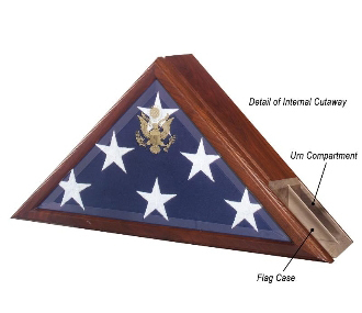 Urn And Flag Case Funeral Flag Case